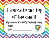 Top of the Chart behavior certificate