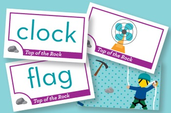 Top of the Rock Short Vowel a, o Phonics Game - Words Their Way Game