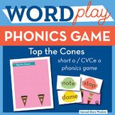 Top the Cones Short O / CVCe O Phonics Game - Words Their
