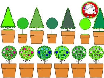 Topiarys Clipart (Personal & Commercial Use)