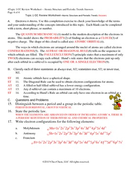 Topic 1 CC Review Worksheet answers by Chez Chem | TpT
