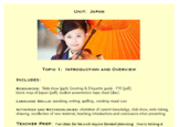 Topic 1, Introduction to Japanese Culture
