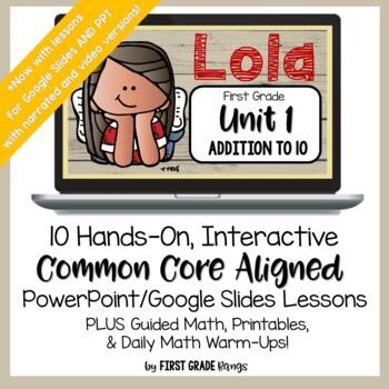 Addition to 10 Common Core Math Lesson BUNDLE (First Grade)