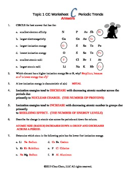 topic 1 periodic trends worksheet c answers by chez chem tpt. Black Bedroom Furniture Sets. Home Design Ideas