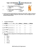Topic 1 Worksheet B Atomic Structure and electrons