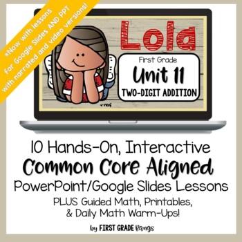 Two-Digit Addition Common Core Math Lesson BUNDLE