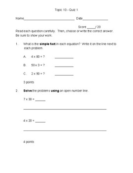 Topic 10 Quiz
