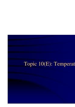 Topic 10 - Temperature
