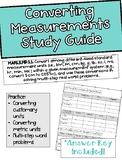 Topic 12 Converting Measurements Study Guide