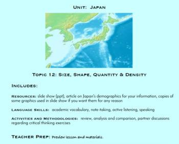 Topic 12, Size, Shape, Quantity, & Density (Japanese Culture Unit)