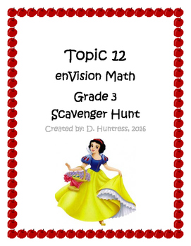 Topic 12 enVision Grade 3 Time Scavenger Hunt