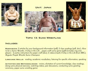 Topic 13, Sumo Wrestling (Japanese Culture Unit)