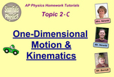 Topic 2-C Physics Homework Tutorial Vodcasts