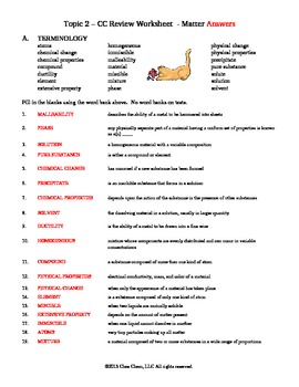 Topic 2 CC Review Worksheet answers