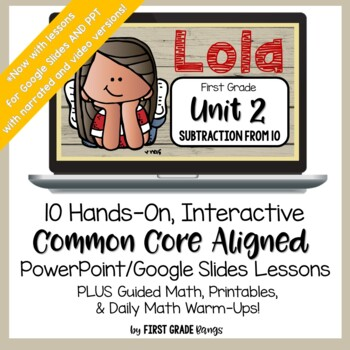 Distance Learning* Subtraction from 10 Common Core Easy Lessons for Home &School