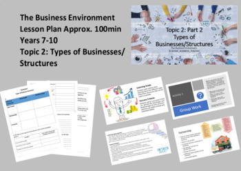 Topic 2 Part 2: Types of Businesses/Structures (Aus Curriculum)