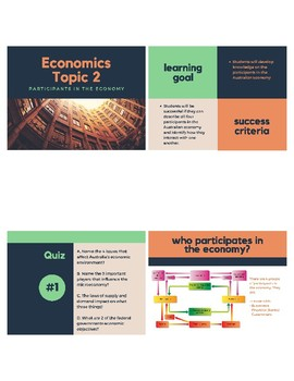 Topic 2 - Participants in the economy: Lesson Plan & Resources