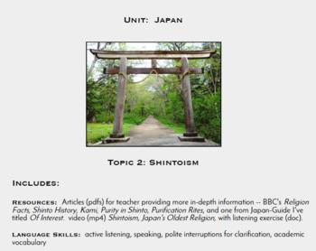Topic 2, Shintoism (Japanese Culture Unit)