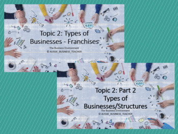 Topic 2: Types of Businesses/Structures (Combo) (Aus Curriculum)