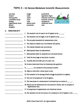 Topic 3 CC Review Worksheet
