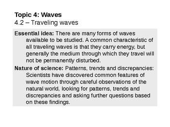 IB Physics Topic 4.2 - Traveling waves