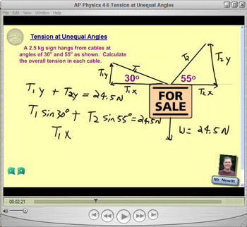 Topic 4-B Physics Homework Tutorial Vodcasts