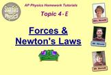 Topic 4-E Physics Homework Tutorial Vodcasts