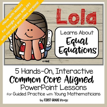 Distance Learning* Equal Equations Common Core Easy Lessons for Home or School