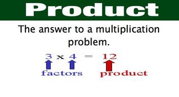 Topic 5 enVision Math Vocabulary Grade 3