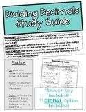 Topic 6: Dividing Decimals