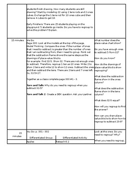 Topic 6: Envision Math Lesson Plans 2nd Grade (Editable)