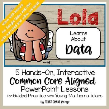 Collecting & Interpreting Data Common Core Math Lesson BUNDLE (1st Grade)