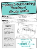 Topic 7: Adding and Subtracting Fractions