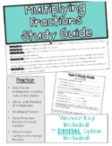 Topic 8: Multiplying Fractions Study Guide