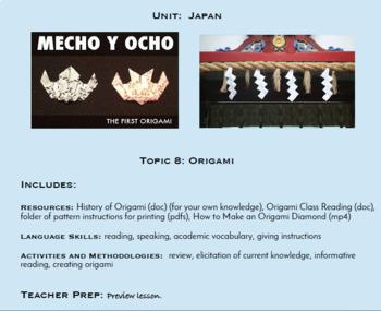 Topic 8, Origami (Japanese Culture Unit)