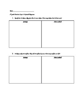 Topic 9 Envision Exteneded Questions - 2nd Grade