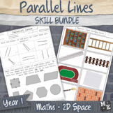 LINE GEOMETRY TOPIC BUNDLE Parallel Lines Activities