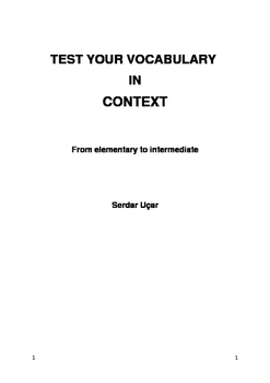 Topic Based Vocabulary Tests - From elementary to intermediate - Part III