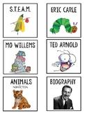 Topic Book Bin Labels
