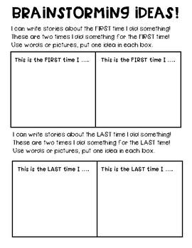 Small Moment Brainstorming Worksheet