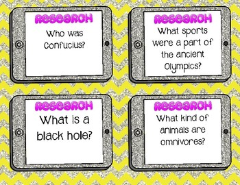 Topic Cards for Research