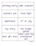 Topic Cards for Use with Rory's Story Cubes
