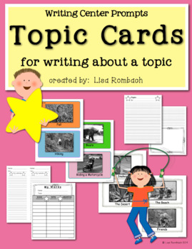 Topic Cards for Writing About a Topic Primary Grades