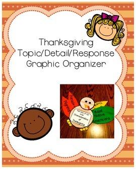 Topic Detail Response Thanksgiving Turkey Graphic Organizer