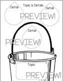 Topic & Details Main Idea Water Drops Graphic Organizer EN