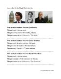 Topic: Famous Canadians - Mingle Match Game Activity for LINC / ESL: CLB 1-6
