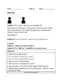 Theme: Canada- Role Play Speaking Activity on Canadian Life for LINC/ESL:CLB 1-6
