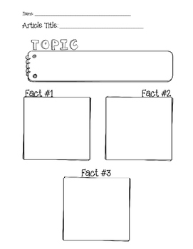 Topic Graphic Organizer