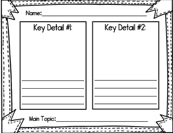 Topic & Key Details Reading Response