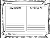 Topic & Key Details Reading Response